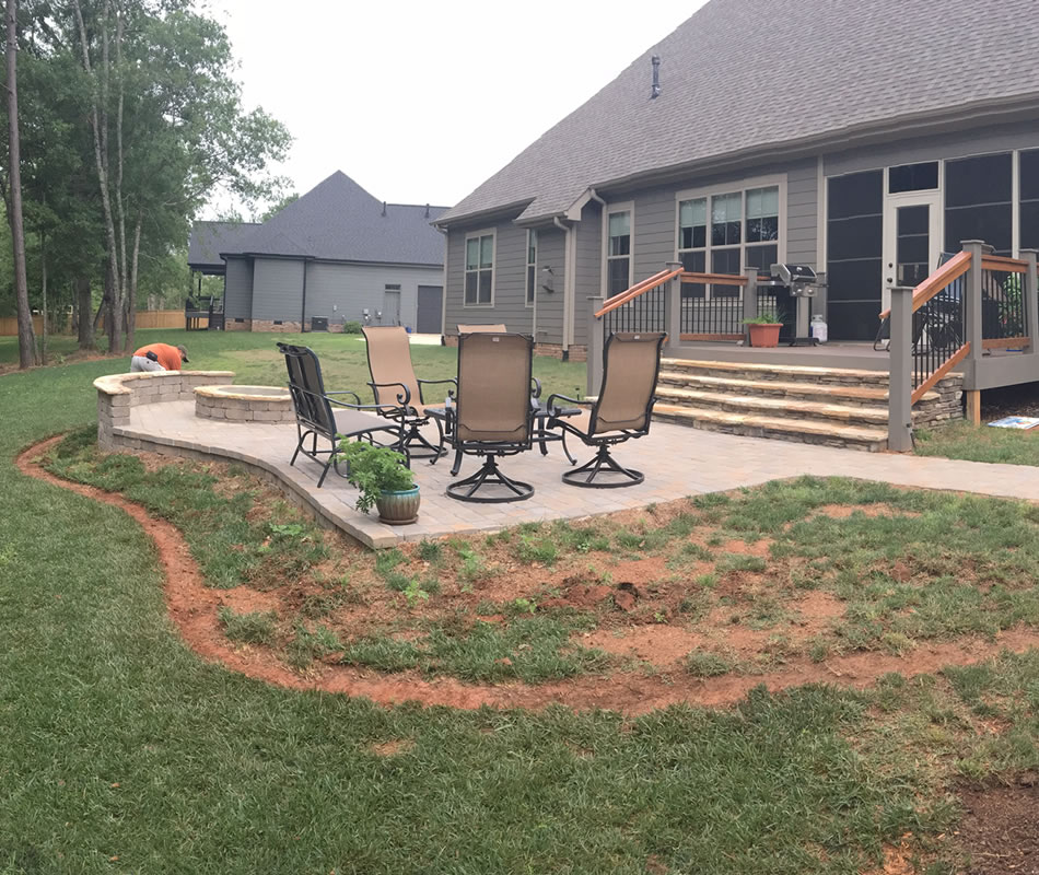 Stone Patio Installation Greenville SC