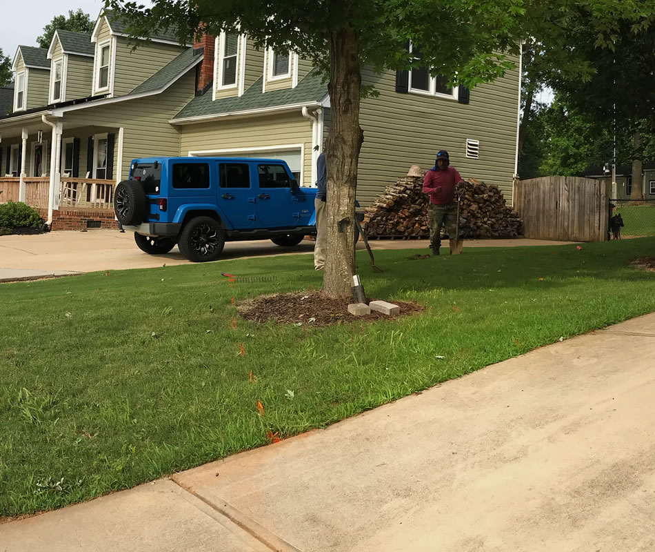 Stone Paver Driveway Installation Greenville SC