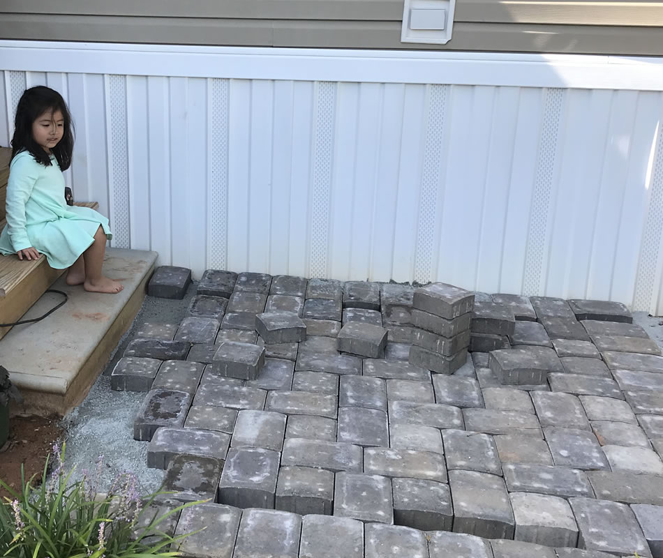 Stone Paver Walkway Installation Greenville SC